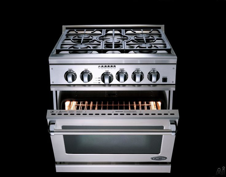 "DCS RGTC305SSN 30"" Pro-Style Gas Range with 5 Sealed Dual Flow Burners, 4.1 cu. ft. True Gas Convection Oven, Self-Cleaning and Island Trim:..."