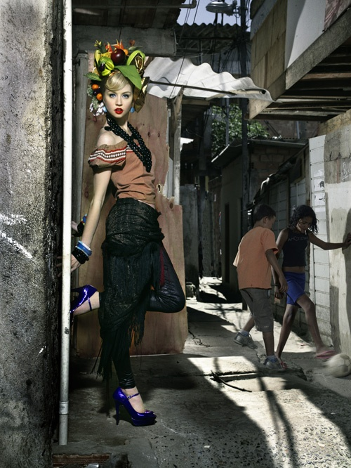 Love this! Hipster Carmen Miranda does favela chic
