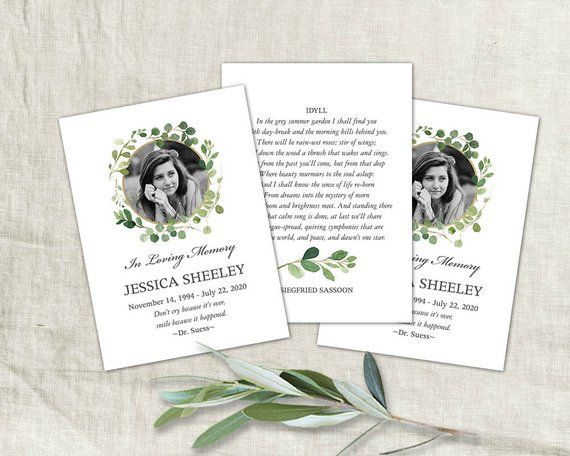 Funeral Card Printable Mass Card With Photo Custom Design Etsy Funeral Cards Prayer Cards Printable Diy Prints