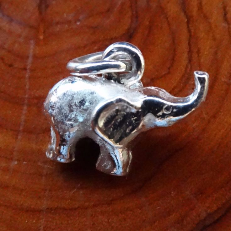 Baby Elephant Charm In Sterling Silver or Gold.| GoodiesHub.com