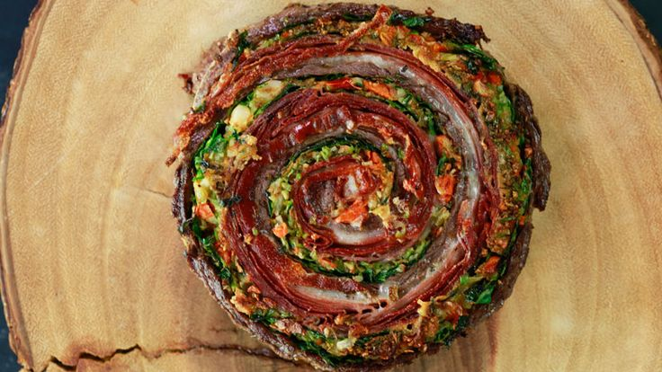 Muffaletta Pinwheel Steaks and Roasted Broccoli Recipe | Rachael Ray Show