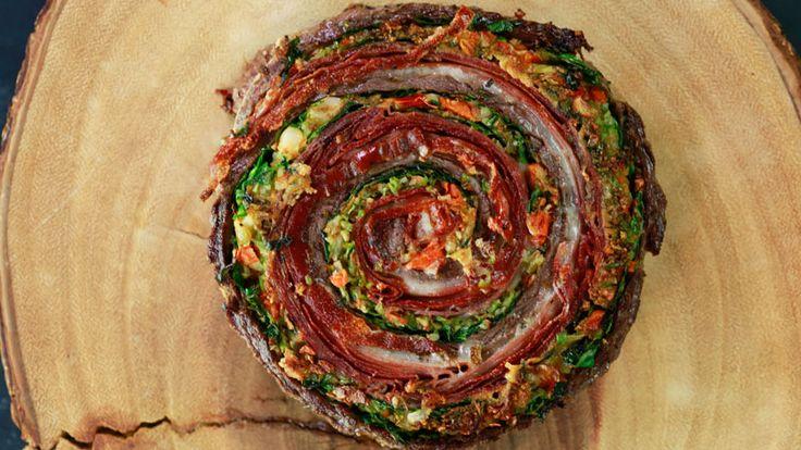 Muffaletta Pinwheel Steaks and Roasted Broccoli #Whatsfordinner