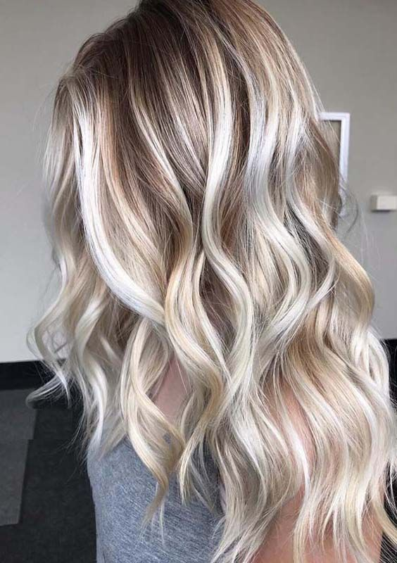 Best Balayage Blonde Highlights With Dark Roots In 2018