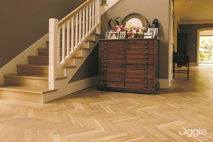 Floor Specification Type: Oggie Oak Legno Living Herringbone Unfinished Thickness: 15/4 Width: 122mm Length: 600mm Finish: Woca Denmark Oils
