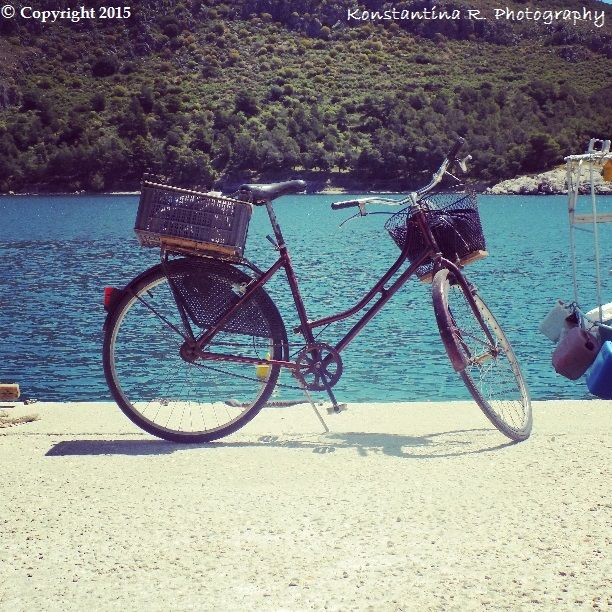 Old bicycle by the sea...