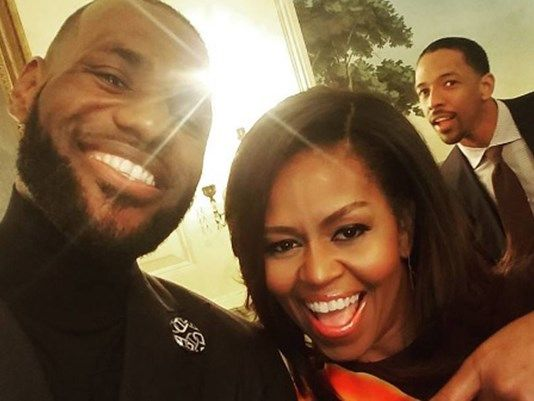 10nov2016----first lady michelle obama and lebron james at white house
