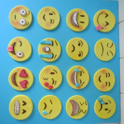 My niece was turning 11 recently and I asked her what she wanted for her special dessert. She requested Emoji cupcakes! I did a little research and discovered that Emoji faces would transform into p
