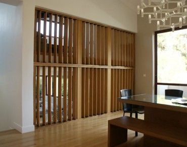 Indoor Divider with Adjustable Blinds
