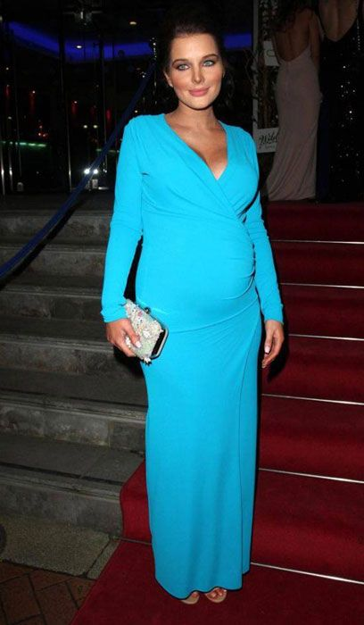 Helen Flanagan Shows Off Her Baby Bump at the Charity Mirror Ball Event in Manchester...