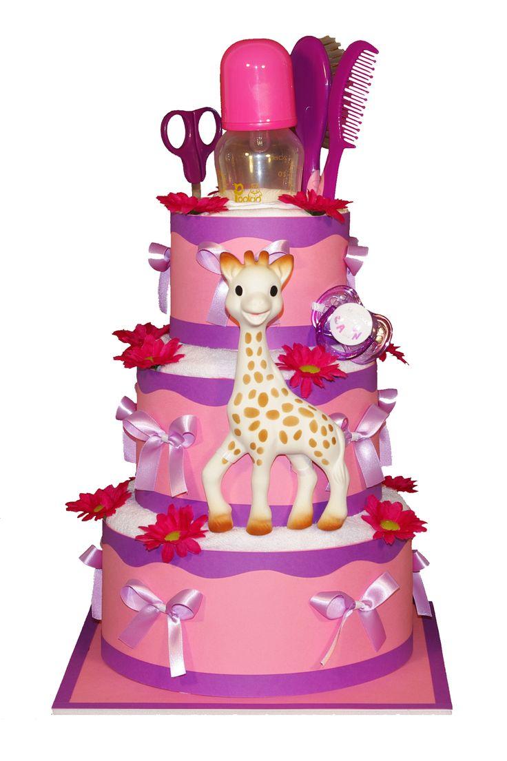 Marsepeintaart gemaakt met Sophie de Giraf. #Babyshower #Geboorte #Verjaardag