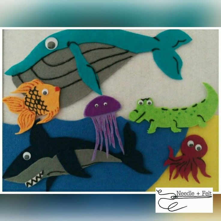 Slippery Fish felt set. Explore the food chain in the ocean with this lovely set.