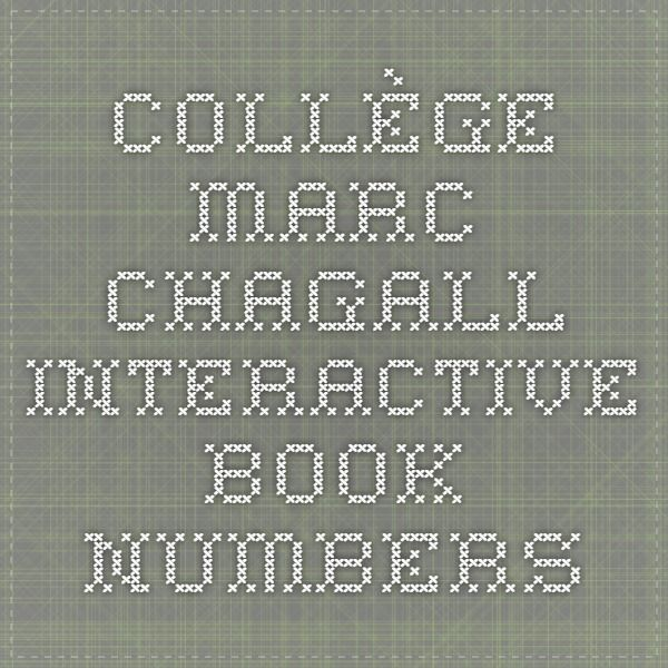 Collège Marc Chagall - Interactive Book - Numbers