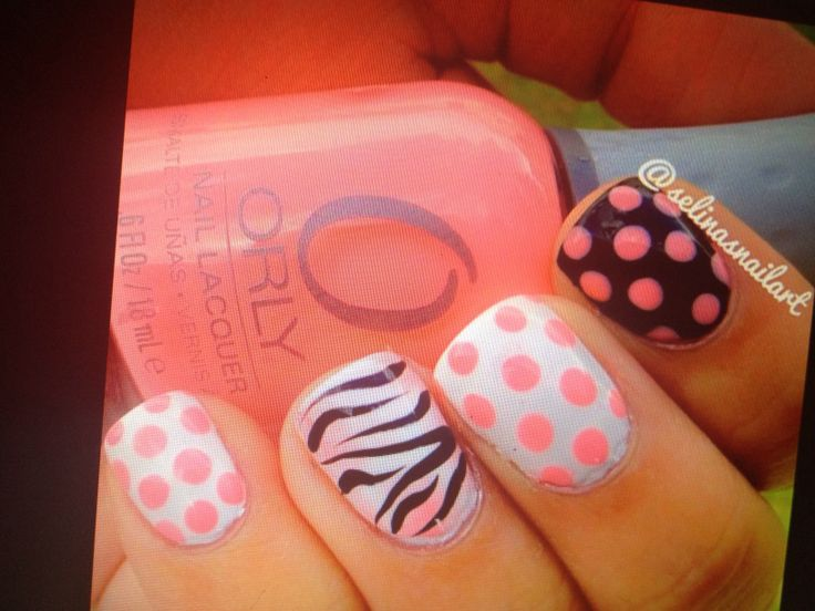 Polka dots and zebra prints!  What's not to love?!?