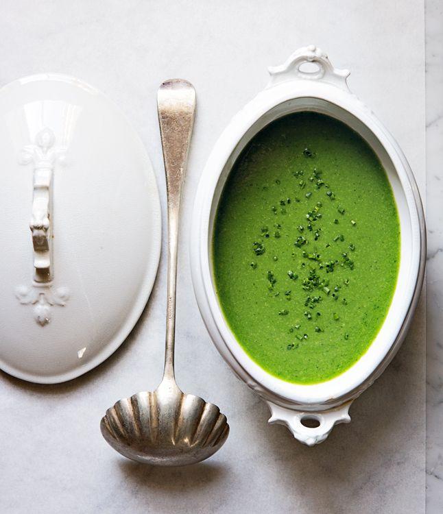 Minty Pea Soup / Bon Appetite:
