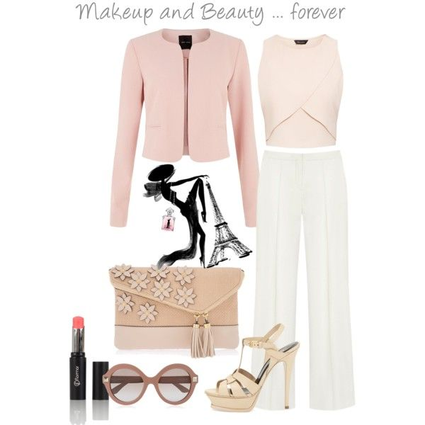 lovely by katane on Polyvore featuring moda, Mulberry, Yves Saint Laurent, Henri Bendel, Valentino, Guerlain, Spring, blogger, outfit and Beauty