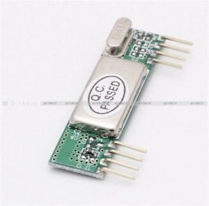 modulo de receptor inalambrico rxb6 433mhz superheterodino para arduino avr d arm - Categoria: Avisos Clasificados Gratis  Estado del Producto: NuevoFeatures: Characteristic:1 receiver sensitivity reach 116dBm;2 Operating frequency:43392 MHz; 3 Power supply voltage input range: 3V55V;4 Low power consumption, 33V 43392MHz, 60mA5 Power Enable mode power consumption can be done lowest 50nA;6 has an analog RSSI signal strength level output;7 Good selectivity and spurious radiation suppression…