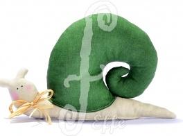 Fermaporta a forma di lumaca verde - fatto a mano da Effe Cremona! http://www.effecremona.it