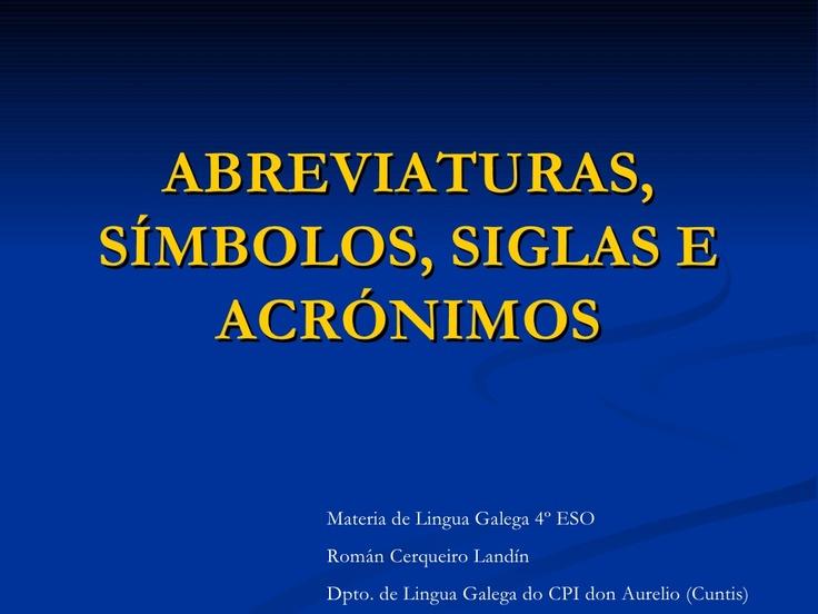 abreviaturas by Román Landín via Slideshare