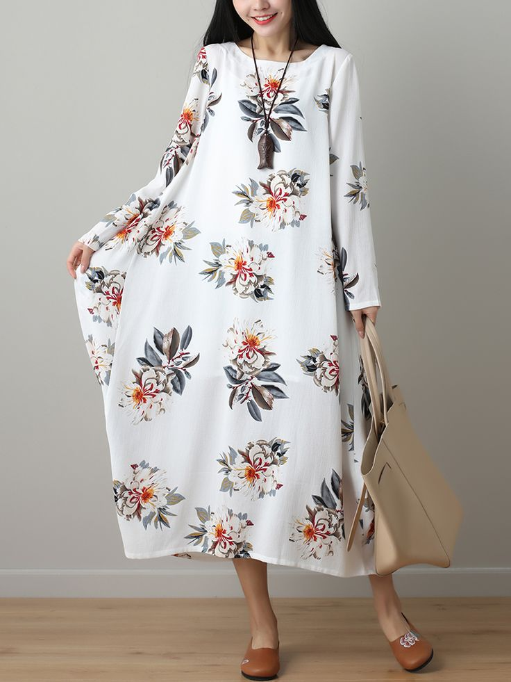 Gracila Floral Printed Two Layers Long Sleeve Vintage Dresses Online - NewChic Mobile