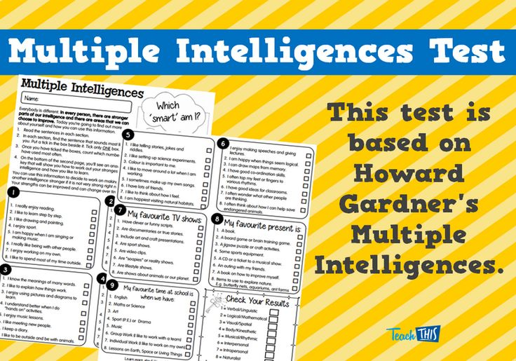 Multiple Intelligences Test More