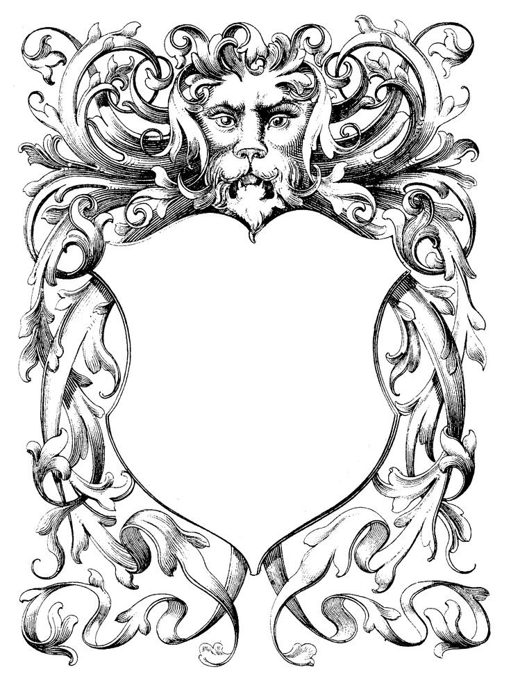 943 best Borders & Ornamental Decorative Elements images on ...