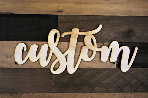 Custom writing sign in