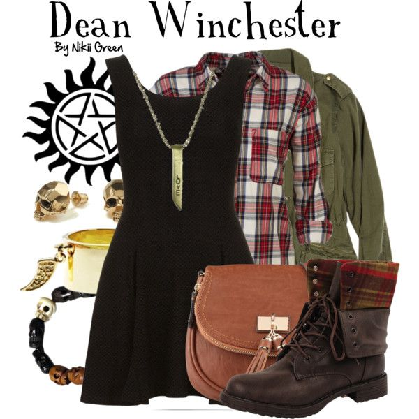 """Dean Winchester"" by nikiigsings on Polyvore.    I like that it is a dress!"