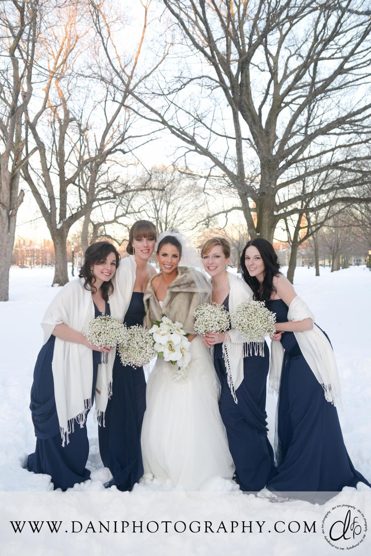 21 best weddings in salem massachusetts images on pinterest check out this beautiful winter bridal party loving the snowy scene in this winter wedding ombrellifo Image collections