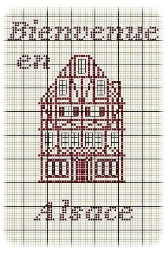 Maison - house - alsace - point de croix - cross stitch - Blog : http://broderiemimie44.canalblog.com/
