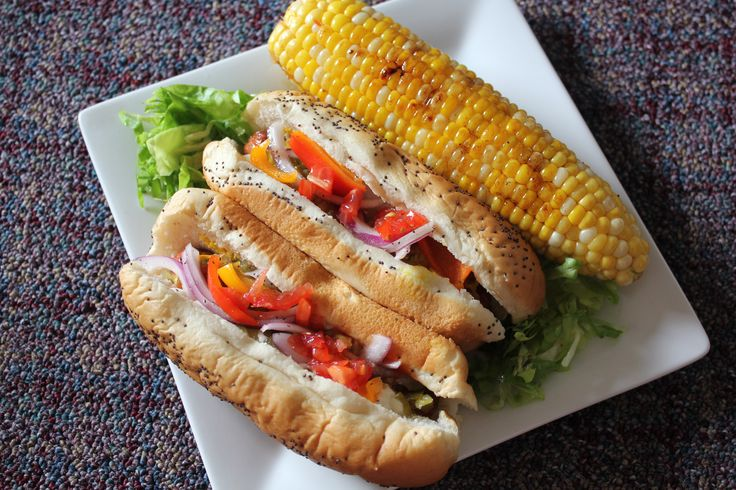 Chicago Dogs & Grilled Butter + Soy Sauce Corn on the Cob!!! Summer ...