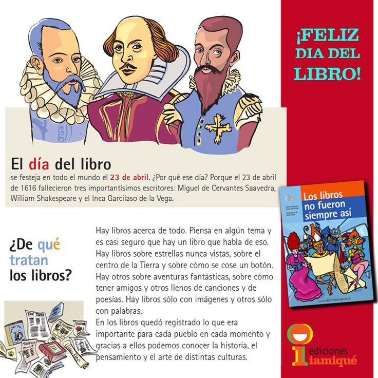 ¡Feliz #DiaDelLibro ! Creado por UNESCO para fomentar la #lectura, la #edición de nuevas #obras, y el derecho de todos de acceder a los #libros, en esta fecha tan particular. Lo festejaremos en la 41° #Feria Internacional Del #Libro de #BuenosAires. ¡Los esperamos para disfrutar al máximo de leer, releer, comentar y compartir… ¡libros!