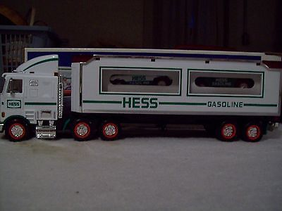 1997 Hess Toy Truck With 2 Racers New In Box