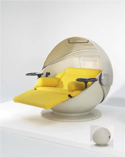 'Sunball' lounge chair, except not in yellow. Perfect for movie and gaming chillaxing.