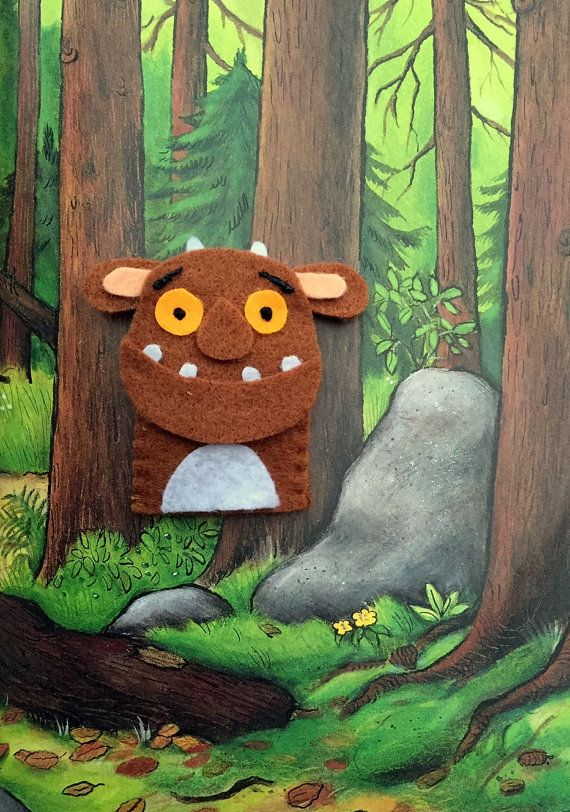 The Gruffalo's Child Finger Puppet by FeltCreationsByEster on Etsy
