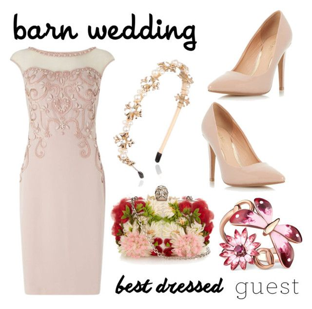 """barn wedding guest"" by simone-kelly-coad-lutwyche ❤ liked on Polyvore featuring Phase Eight, Dorothy Perkins, Alexander McQueen, Gucci, bestdressedguest and barnwedding"
