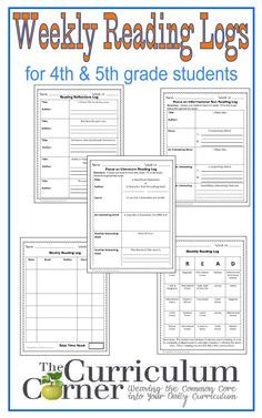 An assortment of five reading logs designed for 4th and 5th grade students. We have included the files in a PDF form and PowerPoint so you can adjust as needed for your class. Weekly Reading Logs PDF Weekly Reading Logs PowerPoint We love Ekuwah Moses' reading logs as a unique reading log alternative. You will …