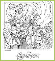 Thor Hulk Iron Man Capt America Oeil de faucon et la Veuve Noire