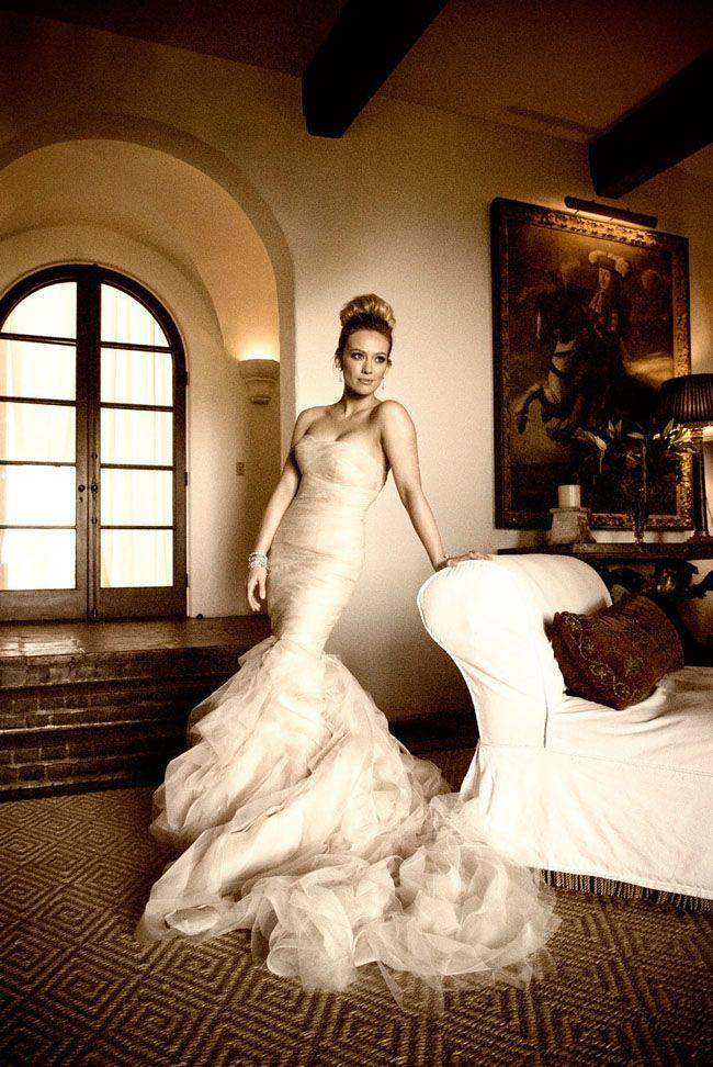 : Vera Wang, Verawang, Wedding Dressses, Hillaryduff, Hillary Duff, Wedding Dresses, Hilarious Duff, Mermaids Dresses, The Dresses