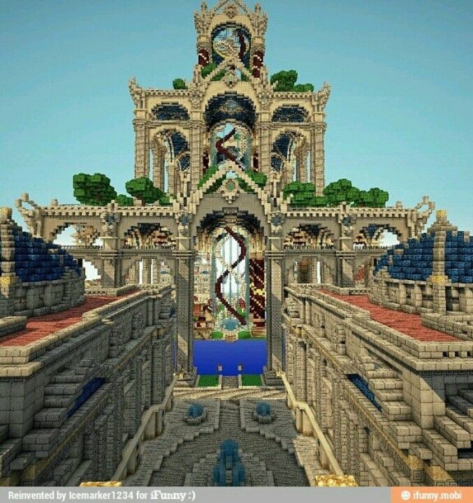 Minecraft see the spiral staircase in the middle, AWESOME