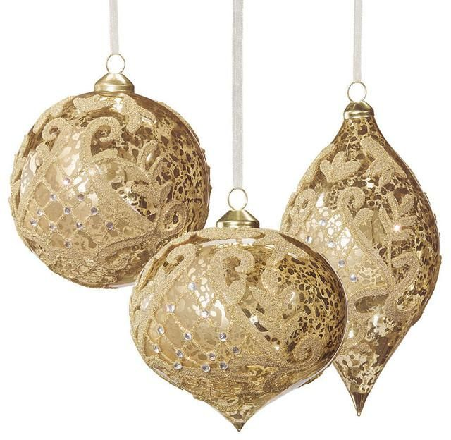 17 best gold and silver christmas decoration images on for Modern gold christmas tree