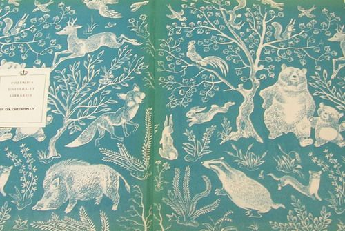 End papers from a Polish children's book
