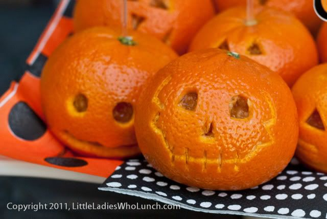 clementine Jack-o-Lanterns from little LADIES WHO LUNCH