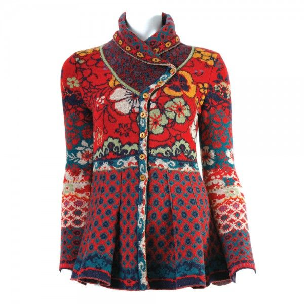 IVKO Jacquard Knit Peplum Sweater Great design and color from IVKO!