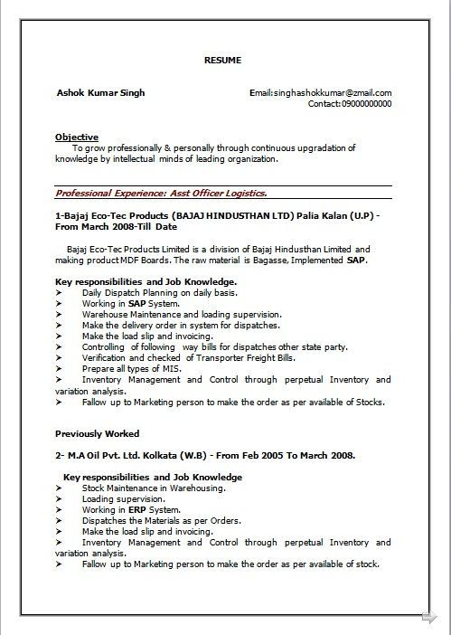 7 years experience resume format experience format resume resumeformat years