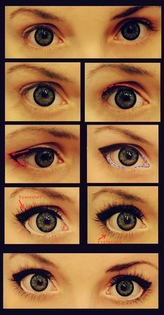 Makeup tutorial doe eyes new jess for anyone wanting to replicate the famous doe e twiggy eye make up not being much of a make up specialist myself i found two really helpful tutorials liner and mascara done