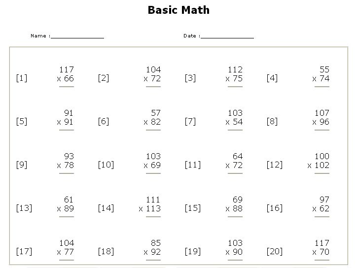 Worksheet Creator Math - customizable and printable subtraction ...