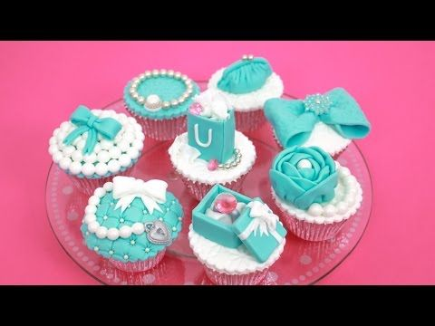 Fashion TIFFANY Cupcakes - How To Make Cake Toppers by CakesStepbyStep - YouTube