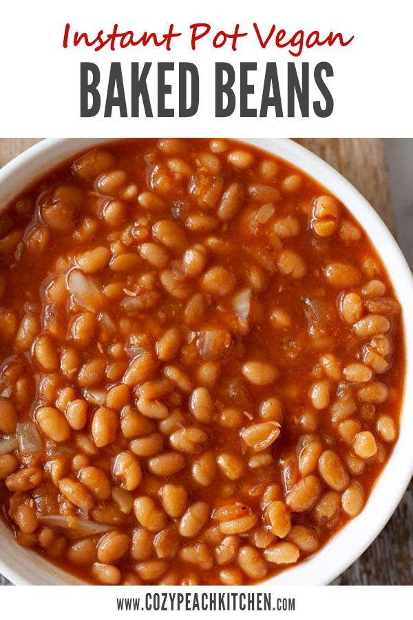 Instant Pot Vegan Baked Beans Recipe In 2020 Vegetarian Baked Beans Baked Beans Vegetarian Bake