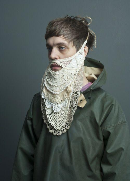 Crazy crocheted beard
