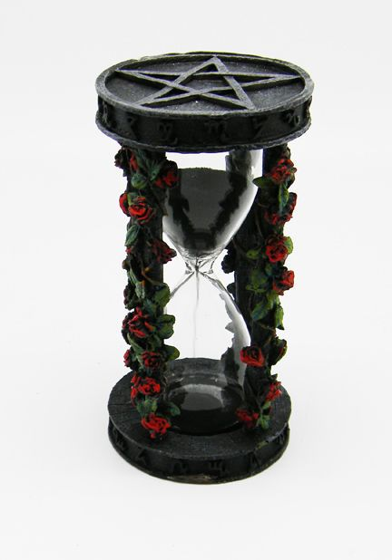 Rose Pentagram Sand Timer 1911 Wiccan Pagan Metaphysical